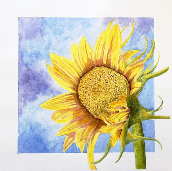 sunflower painting 2.14.2019
